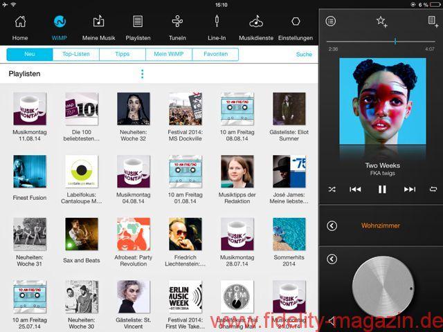 "Raumfeld Connector2 - Auf dem iPad gibt es ""the lot"": Die Raumfeld-App bietet dem User enorm viel"
