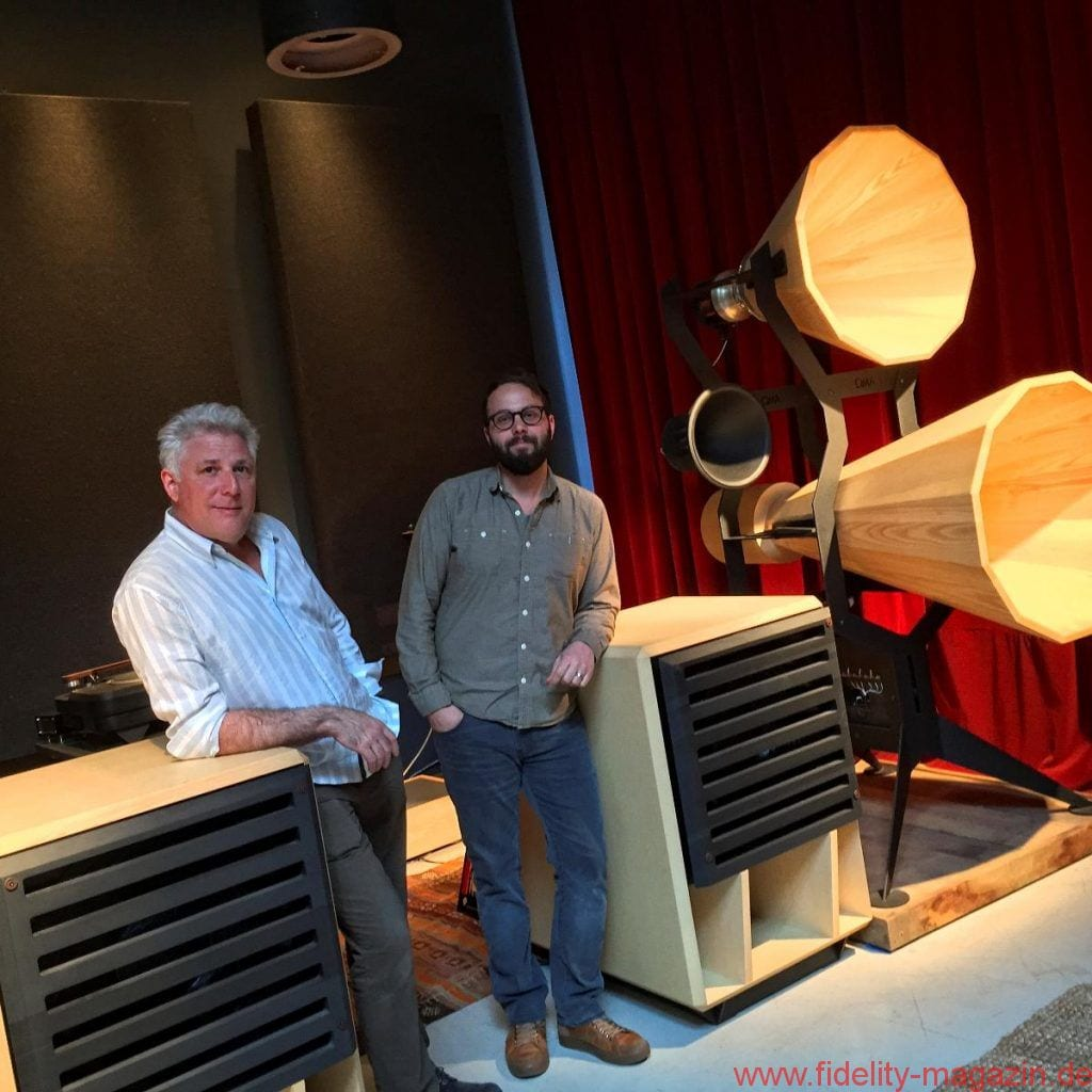 Jonathan Weiss (left) of Oswalds Mill Audio