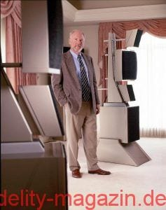 Dave Wilson in front of an original WAMM Series 5 Loudspeaker