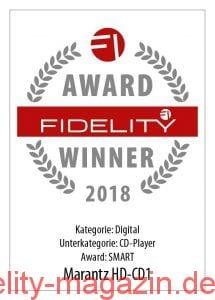 FIDELITY Award Winner 2018 Marantz HD-CD1