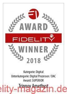 FIDELITY Award Winner 2018 Trinnov Amethyst