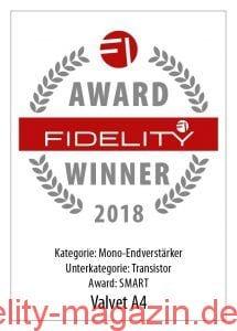 FIDELITY Award Winner 2018 Valvet A4