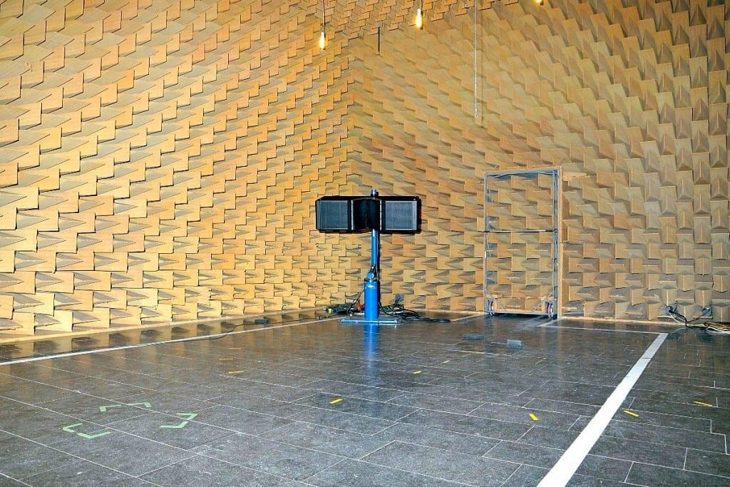 Lautsprechermessung reflexionsarmer Messraum