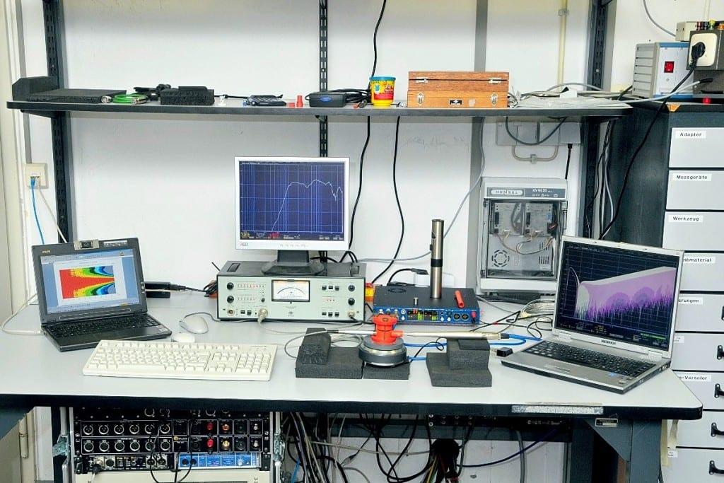 Lautsprechermessung Messplatz