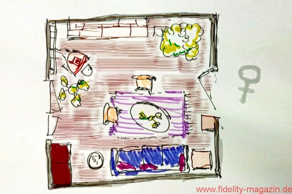 Herausfordernd! - weibliches Wohnzimmer