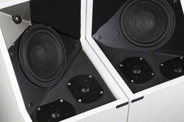 Larsen 8 - Der Bass und die beiden Ambience-Töner stecken normalerweise unter Abdeckungen, der Hochtöner nicht