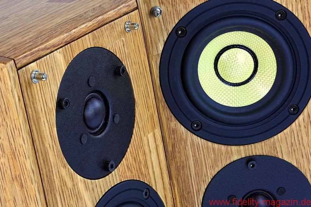 Pioneer S-4SPT-PM - Der kleine Tiefmitteltöner und die schmale Schallwand sorgen zusammen für ein optimales Rundstrahlverhalten