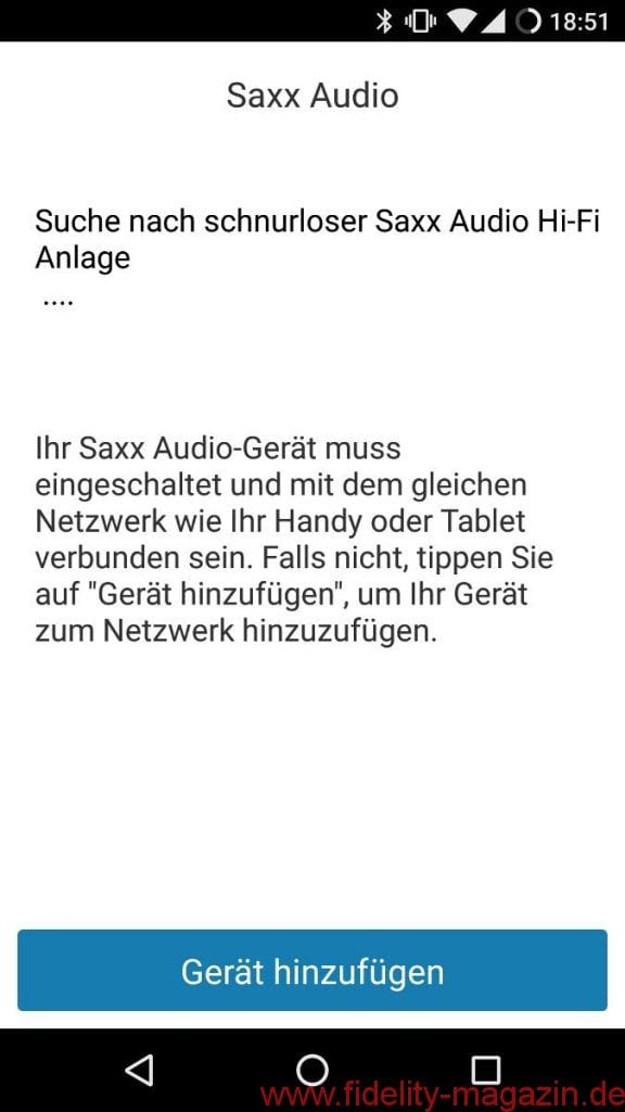 Saxx airSOUND AS 40 / AS 50 App - Direkt aus der Smartphone-App werden die airSOUND Speaker ins Netzwerk eingebunden.