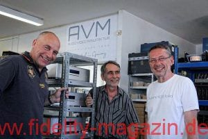 AVM im Who is Who in High Fidelity - Udo Besser, Robert Winiarski und Günther Mania