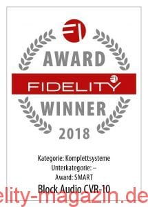 FIDELITY Award Winner 2018 Block Audio CVR-10