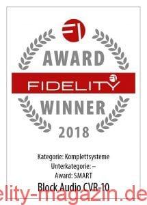 FIDELITY Award Winner 2018 Block Audio CVR-10