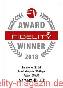 FIDELITY Award Winner 2018 Marantz HD-CD1