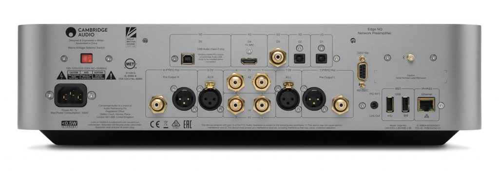 Cambridge Audio Edge NQ Rückansicht
