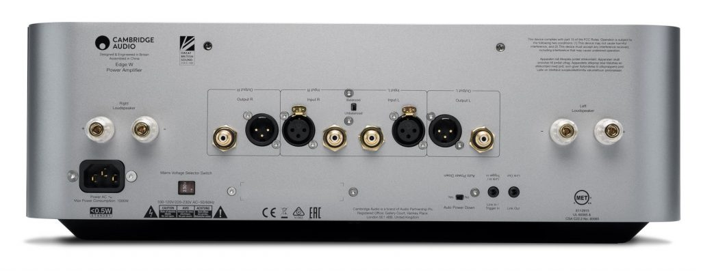 Cambridge Audio Edge W Rückansicht