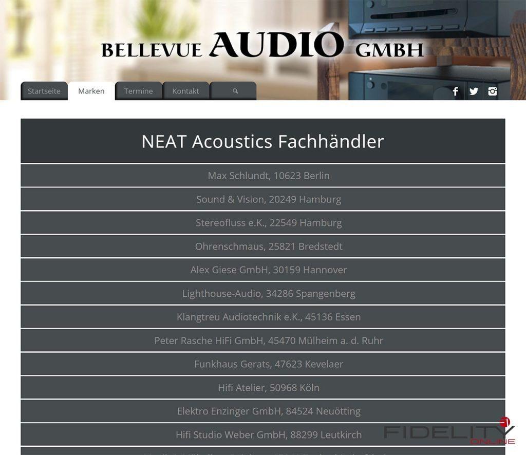 Neat Acoustics Fachhändler