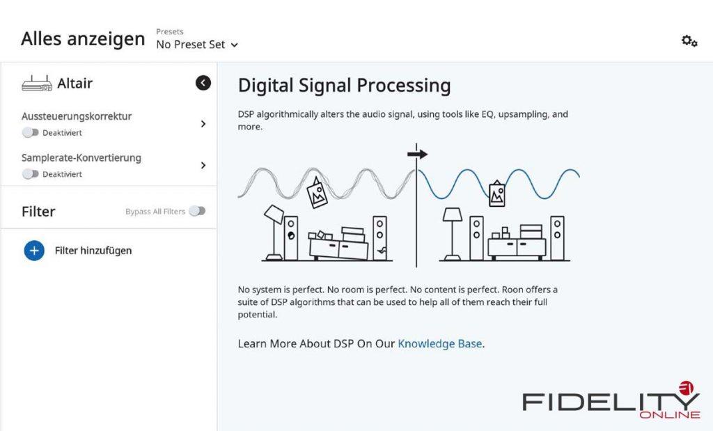 Roon Digital Signal Processing