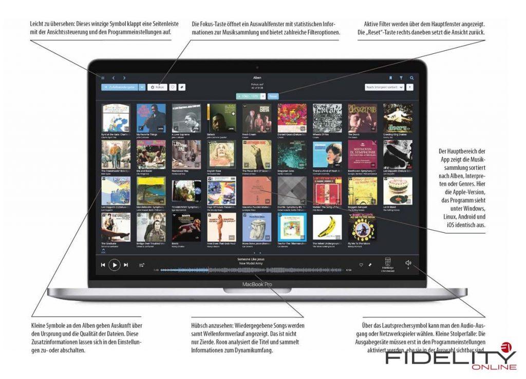 Roon auf Apple MacBook Pro