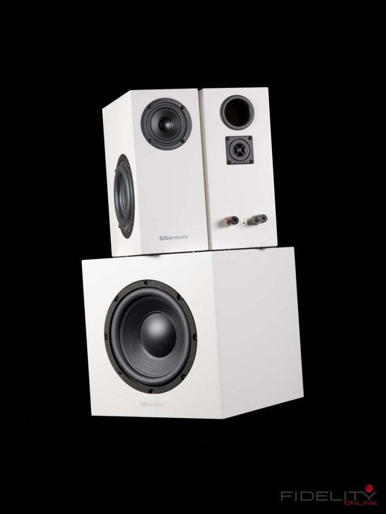 Silberstatic Mio Trio 2.1 Lautsprecherset mit aktivem Subwoofer inkl. Verstärker für die Satelliten
