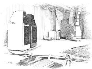 Wilson Audio Sacha DAW Skizze