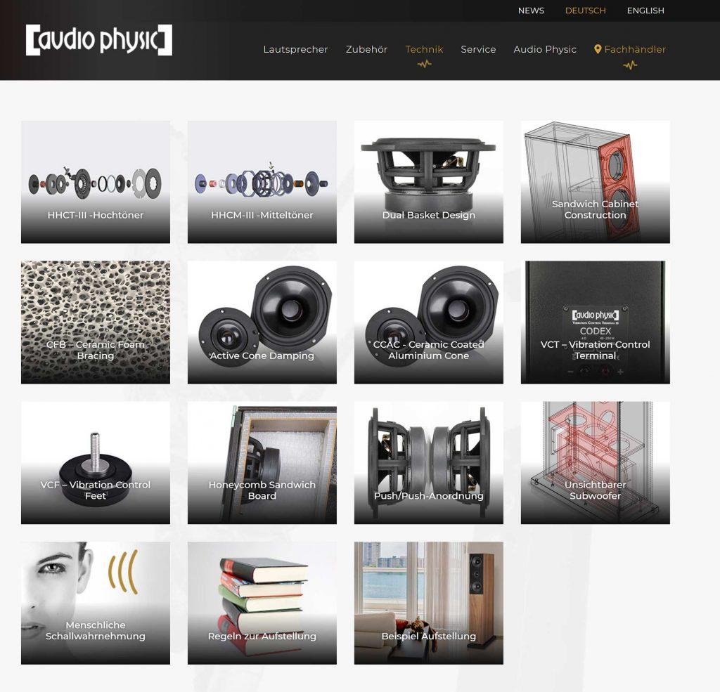 Audio Physik Markenwelt