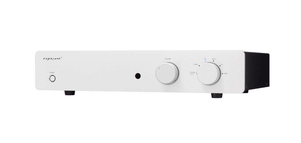 Exposute 2510 Integrated Amplifier Titanium Angle