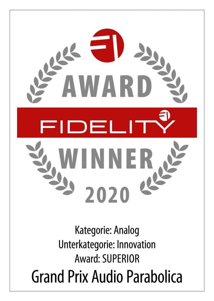 FIDELITY Award 2020 Grand Prix Audio Parabolica
