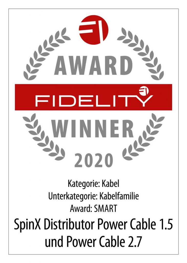 FIDELITY Award 2020 SpinX Power Cable