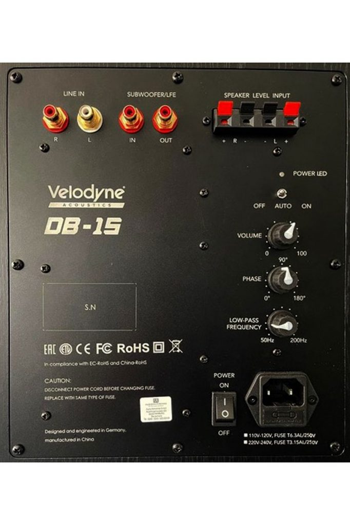 Velodyne DB-15 Subwoofer