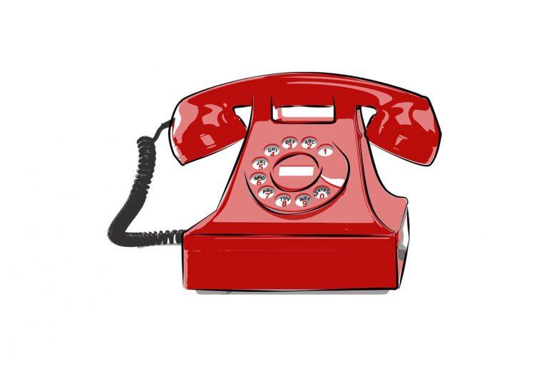 Ziegen der Zerstreuung, Telefon