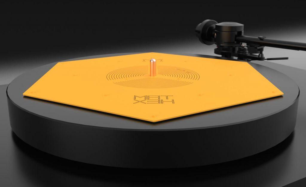 HEXMAT Yellow Bord Plattentellerauflage