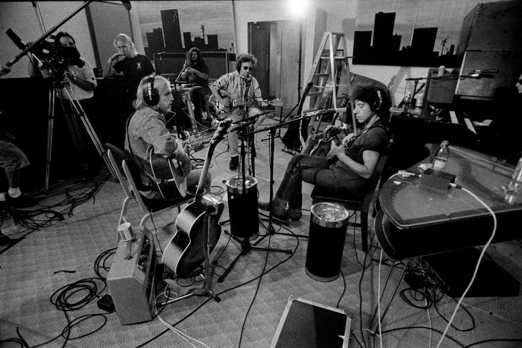 Tom Petty, Campbell und Epstein jamming, credit Robert Sebree