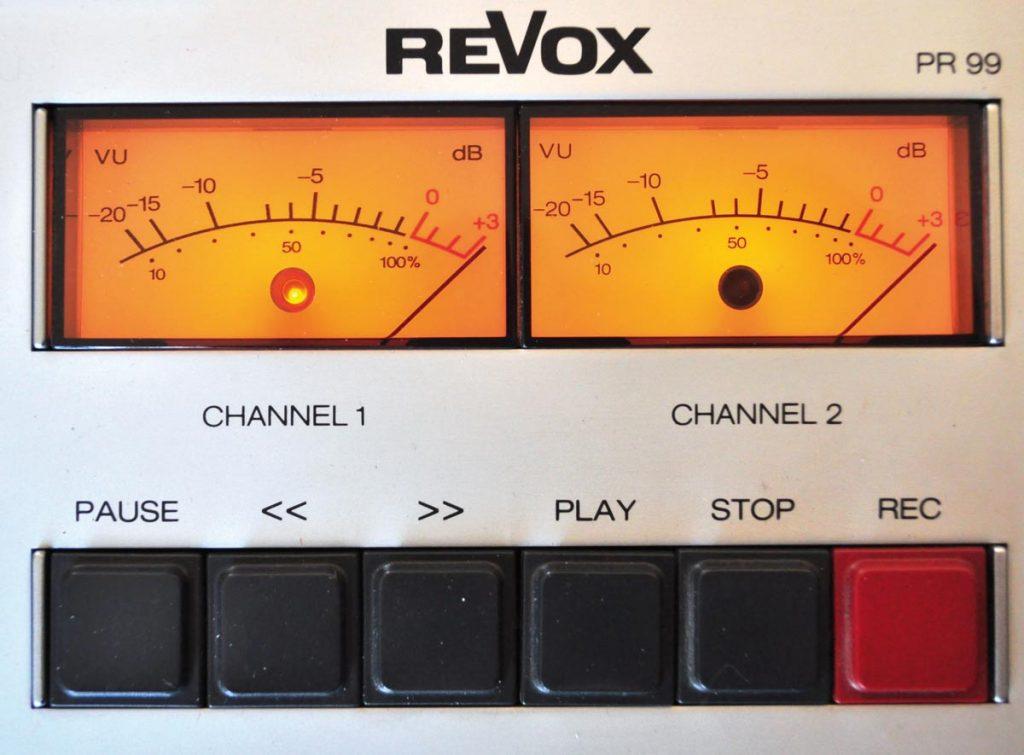 Revox PR99 VU-Meter