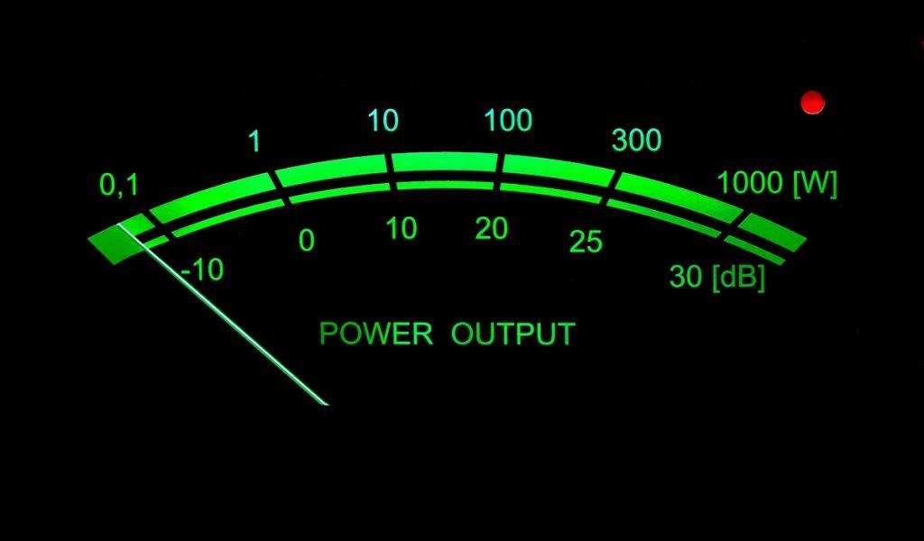 VU-Meter mit Dezibel-Skala