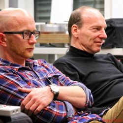 Georg-Cölestin Jatta und Uwe Heile vom deutschen Onda Ligera Vertrieb