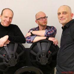 Uwe Heile vom deutschen Onda Ligera Vertrieb, Georg-Cölestin Jatta und Helmut Hack