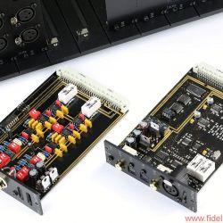 AVM Ovation Series PA8 + SA8.2 - Sören sich überhaupt nicht: kalibrierbares Phonomodul (links) und Digital-Steckkarte für bis zu drei Zuspieler.