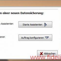 Screenshot Personal Backup