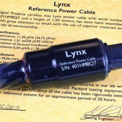 Signal Projects Lynx-Serie - Kein Zufall: Selbst über die richtige Netzsteckerkupplung wurde erst nach ausgiebigen Hörtests entschieden