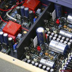 Whest Titan Pro - Die dicken silbernen Folienkondensatoren müssen sehr, sehr gut sein, dienen sie doch vermutlich als Koppelkapazitäten