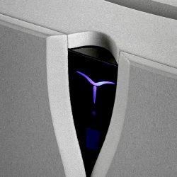 Audia Flight Strumento No.1 / Strumento No. 8 - Trickreich: Das Display ist zugleich Schalter.