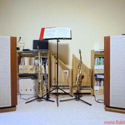 Stax SRM Monitor plus Sigma Pro - Nicht im Bild: dreißig weitere Stax-Legenden, zwanzig Holzblasmundstücke, zehn Kopflautsprecher, fünf Holzblasinstrumente, vier CD-Regale, drei Tuner-Legenden, zwei Plattenspieler, eine Tonbandmaschine.