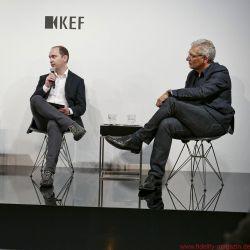 Launch Event Porsche Design und KEF - George Perkins of KEF and Roland Heiler of Porsche Design