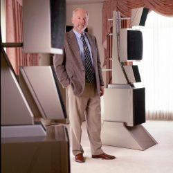 Dave Wilson in front of an original WAMM Series 7 Loudspeaker