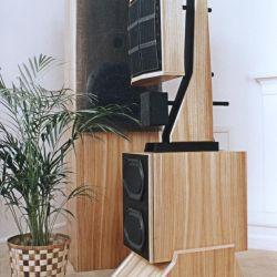 An early original WAMM Loudspeaker in a wooden finish