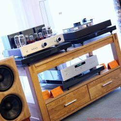 AMS (Akustik Manufaktur Strehler), angesteuert von Pro-Ject Classic und Cayin-Röhren - Norddeutsche HiFi Tage Hamburg 2017