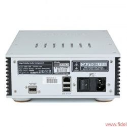 Aurender X100L Musicserver - Neben dem obligatorischen LAN-Anschluss besitzt der X100 drei USB-Schnittstellen. Lediglich die USB-Audio-Buchse ist für den DAC-Anschluss gedacht, die beiden anderen dienen allein dem Datentransfer.