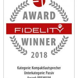 FIDELITY Award Winner 2018 Dynaudio Special Forty