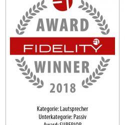 FIDELITY Award Winner 2018 Wilson Audio Yvette