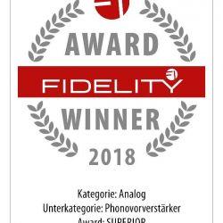 FIDELITY Award Winner 2018 Audiospecials Phonolab