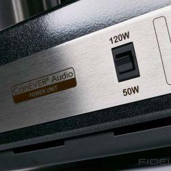 Canever Audio La Scala Reference Amplifier. 50 oder 120 Watt? Für Hochwirkungsgradlautsprecher kann La Scala ihre Leistung reduzieren.